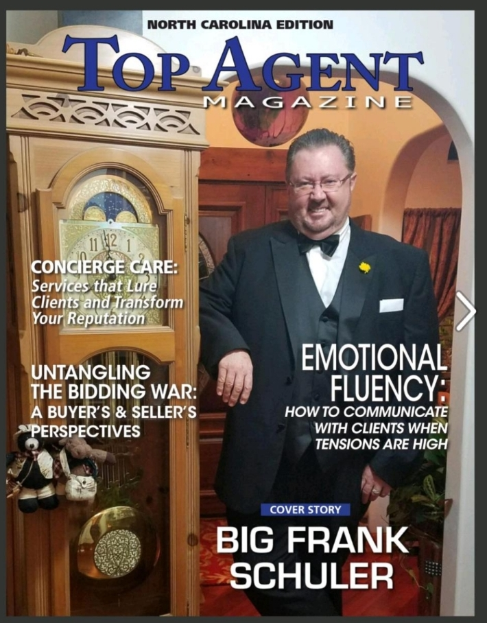 Big Frank Cover in Top Agent Magazine